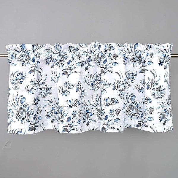 DriftAway Claire Watercolor Floral Leaves Room Darkening Window Curtain Valance Rod Pocket. Opens flyout.