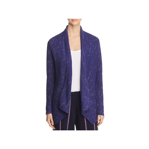 Nic + Zoe Womens Pixel Pop Cardigan Sweater Open Front Ribbed Knit