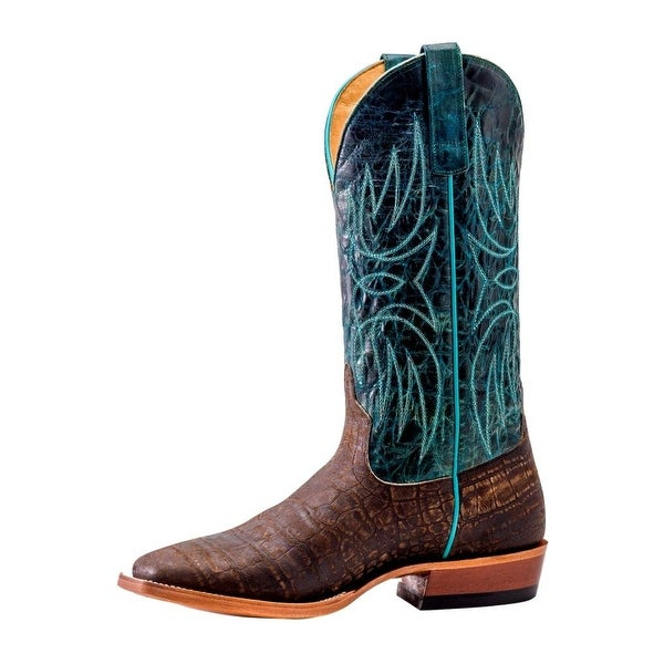 Horse Power Western Boots Mens Alligator Print Coca Vintage