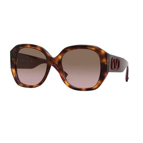 Valentino VA4079 501114 56 Havana Woman Square Sunglasses