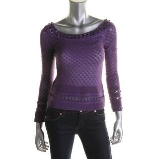 Catherine Malandrino Womens Pointelle Knit Top - S
