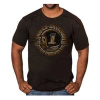 Harley-Davidson Men's Hero Skull Premium Short Sleeve T-Shirt, Black Rust Wash