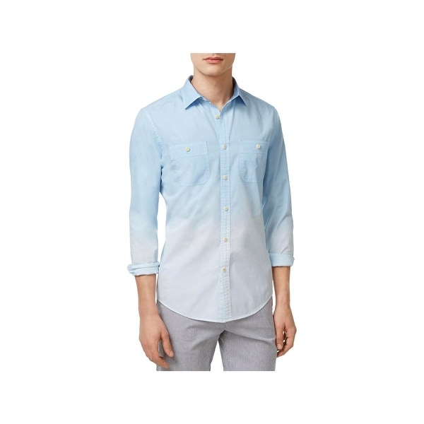 cebb98b6 Shop Tommy Hilfiger Mens Button-Down Shirt Ombre Long Sleeves - Free ...