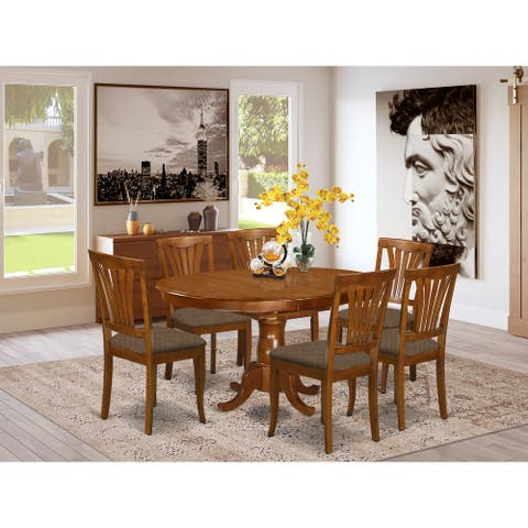 7-Piece Dining Set - Kitchen Table and 6-dining Chairs (Chair Option)