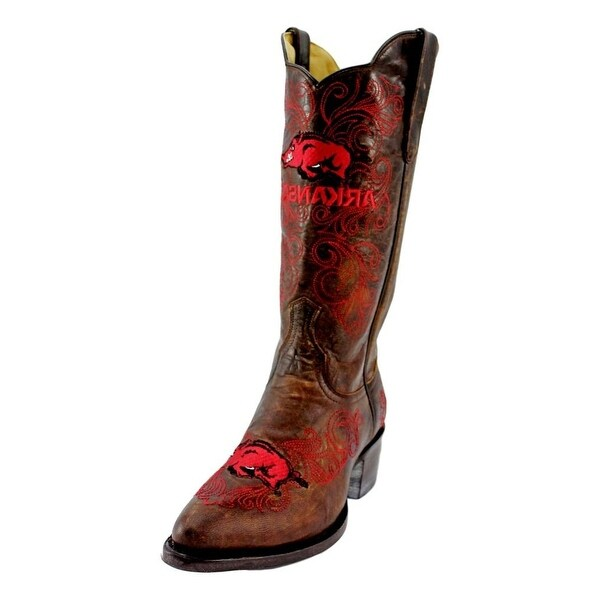 Gameday Boots Womens Western Arkansas Razorbacks 8 B Brass