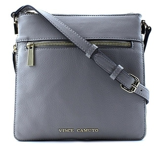 Vince Camuto Buffi Crossbody Women Leather Gray Messenger