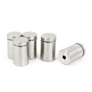 Unique Bargains 5pcs 0.75 Dia 1.2 Length 19mm x 30mm Stainless Steel Advertising Screw Nails