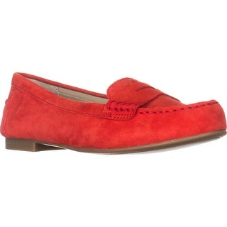 White Mountain Markos Casual Penny Loafers, Chili Red Suede