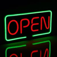 OPEN LED Neon Light Sign,Red & Green Letter