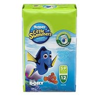Huggies Little Swimmers Disposable Swim Diapers, Small, 12-Count - Pink/Blue