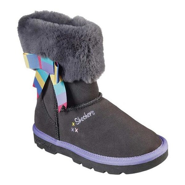 Shop Skechers Girls' Cozy Ups Hot Cocoa Cutie Boot Gray