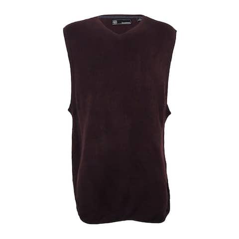 Weatherproof Vintage Men's Big and Tall Sweater Vest (LT, Bordeaux) - Bordeaux - LT