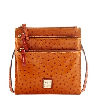Dooney & Bourke Ostrich North South Triple Zip (Introduced by Dooney & Bourke at $178 in Mar 2016) - Tan