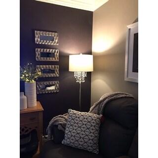 """Abigail 61"""" Crystal / Metal LED Floor Lamp, Clear/Chrome"""