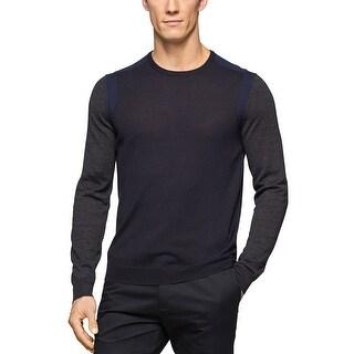 Calvin Klein Lightweight Merino Blend Crewneck Sweater Lake Como Small S