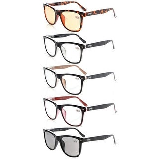 Eyekepper 5-pack Large Lenses Spring-Hinges Reading Glasses