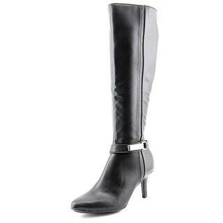 Alfani Jemsey Wide Calf Women Round Toe Synthetic Black Knee High Boot