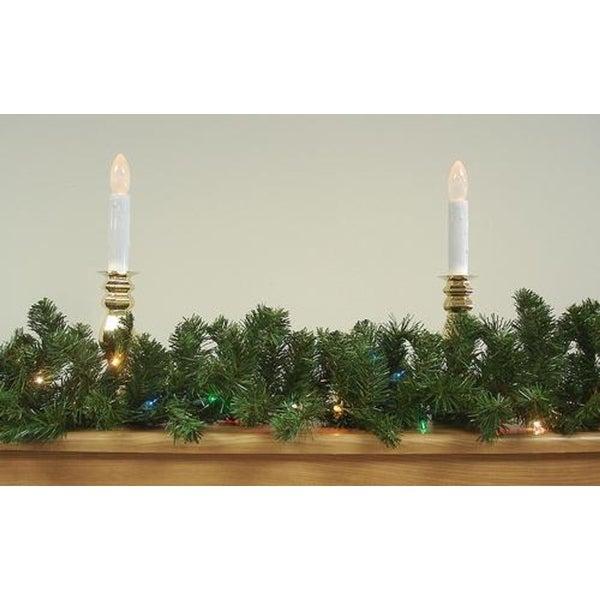 "9' x 14"" Pre-Lit Canadian Pine Artificial Christmas Garland - Multi Lights"