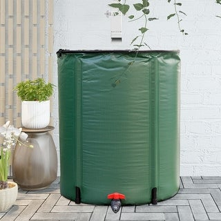 Gymax 53 Gallon Portable Rain Barrel Water Collector Collapsible Tank w /Spigot Filter