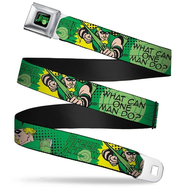 Green Arrow Logo Full Color Black Green Arrow Poses What Can One Man Do? Seatbelt Belt