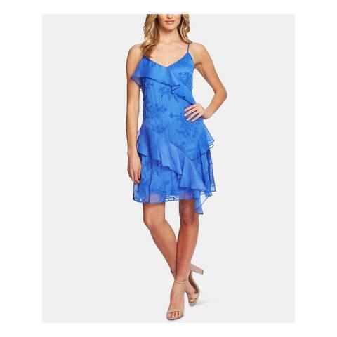 CECE Blue Spaghetti Strap Above The Knee Dress XS