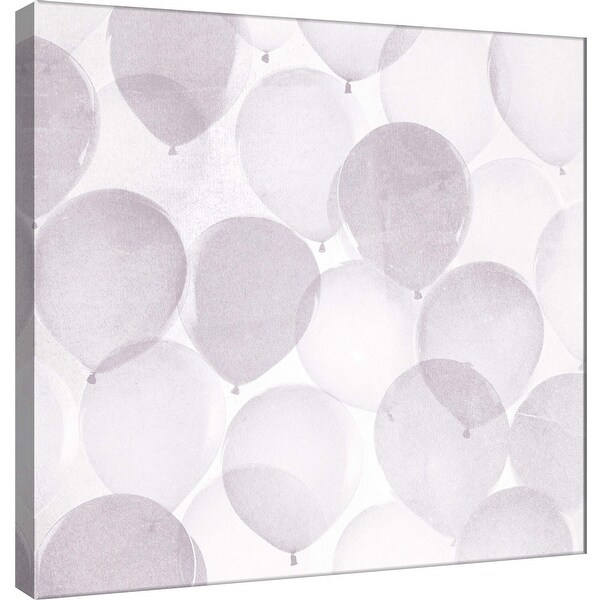 "PTM Images 9-101178 PTM Canvas Collection 12"" x 12"" - ""Airy Balloons in Grey B"" Giclee Celebrations Art Print on Canvas"