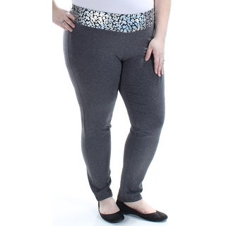 MATERIAL GIRL Womens Gray Metallic Animal Print Lounge Active Wear Pants Juniors Size: XXL
