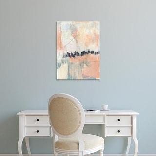 Easy Art Prints Jennifer Goldberger's 'Blush & Navy II' Premium Canvas Art