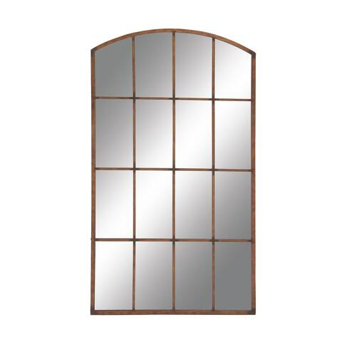 """Large Rectangular Arched Copper Window Mirror 40"""" x 71"""" - 40 x 2 x 71"""