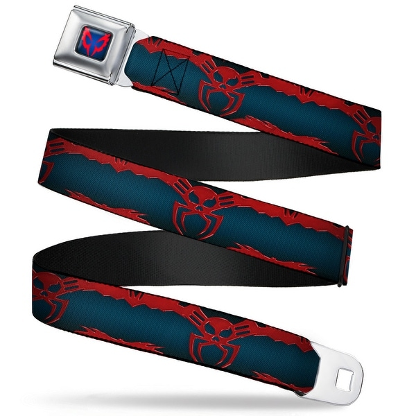 Ultimate Spider Man Spider Man 2099 Face Close Up Full Color Black Fade Red Seatbelt Belt