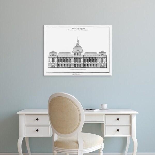 Easy Art Prints Denis Diderot's 'Architectural Elevation III' Premium Canvas Art