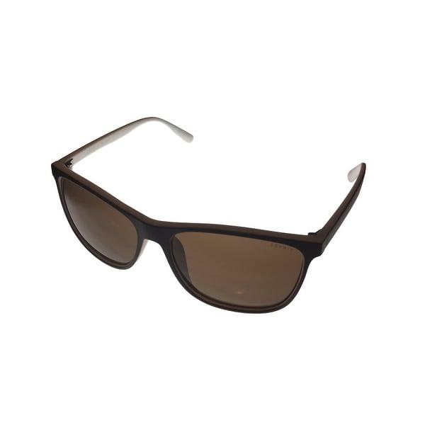 Esprit Sunglass Plastic Square 2 Tone Brown White, Brown Lens 19448 535 - Medium