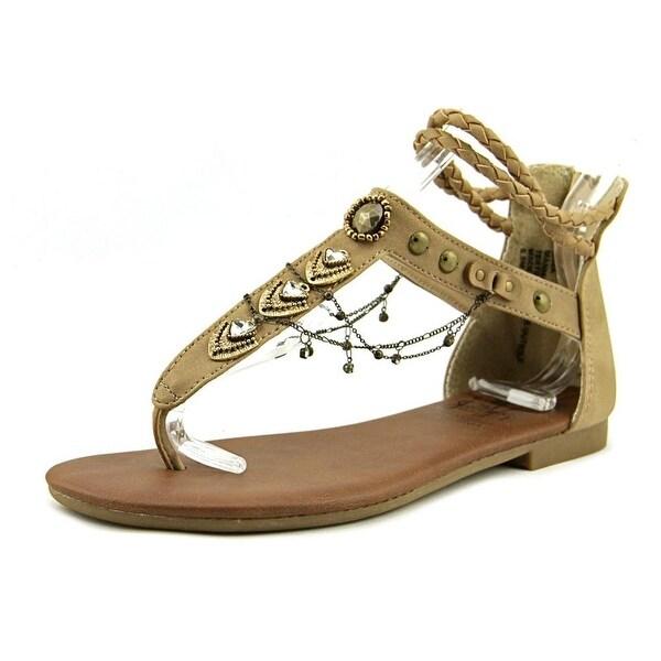9678e263c Shop Jelly Pop Womens Cava Leather Split Toe Casual Gladiator ...