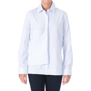 J.W. Anderson Womens Flag Crinkled Collared Button-Down Top