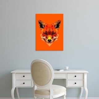 Easy Art Prints Andreas Lie's 'Geometric Fox' Premium Canvas Art