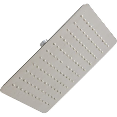 Mirabelle MIRRS1025S 2.5 GPM Single Function Square Rain Shower Head -