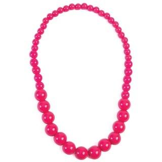 Forum Novelties Hot Pink Big Pearls Necklace