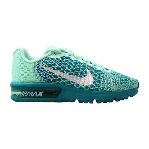 5b2df315a2 Nike Air Max Sequent 2 Mint Foam/Metallic Silver 869994-301 Grade-School