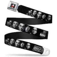 The Big Bang Theory Full Color Black White Red The Big Bang Theory Group Seatbelt Belt