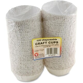Hygloss HYX36100 Disposable Craft Cups, 100 Count - White