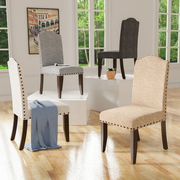 Furniture of America Kerg Rustic Flax Fabric Side Chairs (Set of 2). Opens flyout.