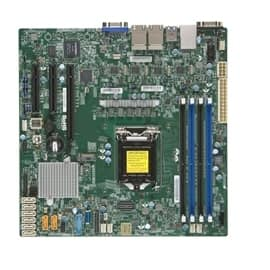 Supermicro Motherboard-X11SSH-LN4F-B LGA1151 Socket H4 E3-1200v5 Core236 DDR4 PCI Express SATA Micro ATX Brown Box