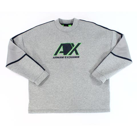 Armani Exchange Mens Sweatshirt Gray Size Medium M Fleece Jacket