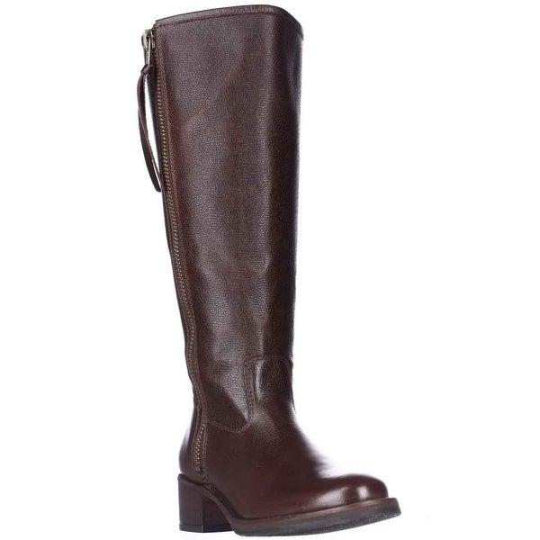 Lucky Brand Hyperr Wide Calf Flat Boots, Bourbon - 5.5 us / 35.5 eu