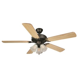 "Design House 153932 Millbridge 52"" Ceiling Fan with Light Kit and Reversible Blades - Oil Rubbed bronze"