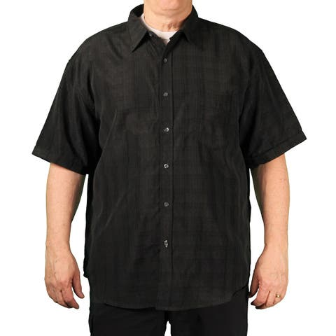 Bruno BIG Men's Short Sleeve Button-Down Shirt