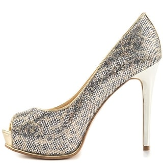 GUESS Womens Honoran 2 Peep Toe Classic Pumps