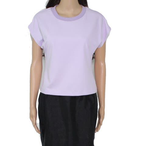 Rachel Rachel Roy Women's Top Lavender Purple Size XS Knit Ribbed Neck