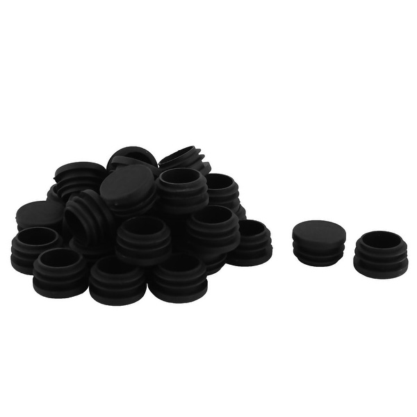 Plastic Round Shaped Desk Table Chair Leg Dustproof Tube Insert 30mm Dia 30 Pcs