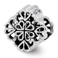 Sterling Silver Reflections Four Leaf Clover Bali Bead (4mm Diameter Hole) - Thumbnail 0